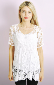 Italian Lace T-shirt With Cami